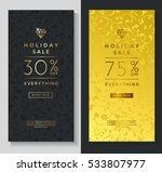 luxury style holiday sale... | Shutterstock .eps vector #533807977