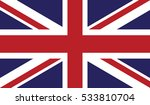 flag of united kingdom vector... | Shutterstock .eps vector #533810704