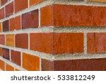 Red Brick Wall Corner On An Ol...