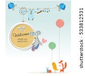 baby bday  shower party ... | Shutterstock .eps vector #533812531