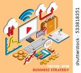 illustration of info graphic... | Shutterstock .eps vector #533818351