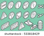 illustration of info graphic... | Shutterstock .eps vector #533818429