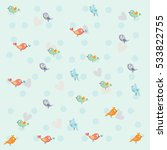 kids seamless pattern with... | Shutterstock .eps vector #533822755