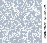 seamless floral blue  background | Shutterstock .eps vector #533823925