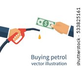 buying petrol  concept. payment ... | Shutterstock .eps vector #533825161