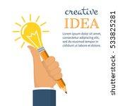 creative business ideas concept.... | Shutterstock .eps vector #533825281