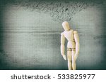 image of wooden dummy  with... | Shutterstock . vector #533825977