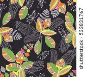 scandinavian vector floral... | Shutterstock .eps vector #533831767