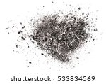 Cigarette Ash Isolated On Whit...