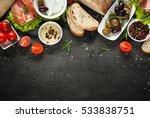 Mediterranean Food Background....