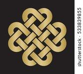 decorative celtic love knot ... | Shutterstock .eps vector #533839855