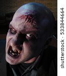 zombie make up film face   | Shutterstock . vector #533844664