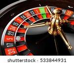 casino gold roulette stopped... | Shutterstock . vector #533844931