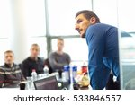 businessman making a... | Shutterstock . vector #533846557