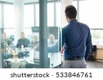 businessman making a... | Shutterstock . vector #533846761