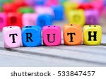 truth word on wooden table | Shutterstock . vector #533847457