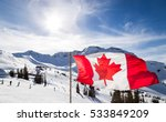 canadian flag flying at the top ... | Shutterstock . vector #533849209