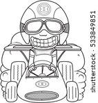 cartoon car racing illustration ... | Shutterstock .eps vector #533849851