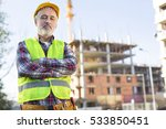 mature male engineer at a... | Shutterstock . vector #533850451