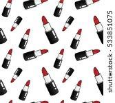 lipstick seamless pattern   Shutterstock .eps vector #533851075