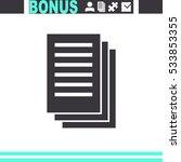 document icon paper sheet... | Shutterstock .eps vector #533853355
