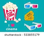 movie poster template. popcorn  ... | Shutterstock .eps vector #533855179