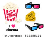 movie poster template. popcorn  ... | Shutterstock .eps vector #533855191