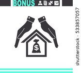 protection and mortgage vector... | Shutterstock .eps vector #533857057