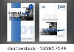 blue annual report design... | Shutterstock .eps vector #533857549