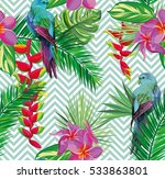 beautiful seamless tropical... | Shutterstock .eps vector #533863801