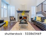 beautiful and large living room ... | Shutterstock . vector #533865469