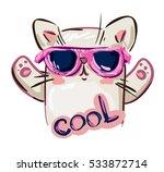 cool print children's t shirt... | Shutterstock .eps vector #533872714