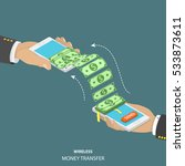 wireless money transfer... | Shutterstock .eps vector #533873611