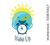 good morning card with sun and... | Shutterstock .eps vector #533876617