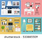 set of cute and colorful... | Shutterstock .eps vector #533885509
