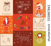 christmas collection set with... | Shutterstock .eps vector #533887861