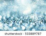 blurred bokeh of christmas... | Shutterstock . vector #533889787