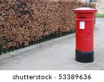 Red And Vintage British Postbo...