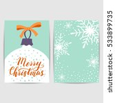 merry christmas greeting card.... | Shutterstock .eps vector #533899735