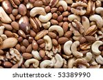 A Selection Of Nuts  Close Up
