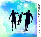 family silhouette mother father ... | Shutterstock .eps vector #533900785