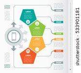 vector infographic of... | Shutterstock .eps vector #533901181