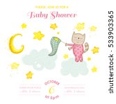 baby shower or arrival card  ... | Shutterstock .eps vector #533903365