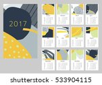 2017 art hand drawn calendar.... | Shutterstock .eps vector #533904115