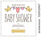 baby shower invitation template.... | Shutterstock .eps vector #533910967