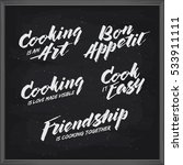 cooking related typography set. ... | Shutterstock .eps vector #533911111