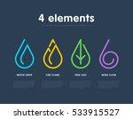 nature elements. water  fire ... | Shutterstock .eps vector #533915527