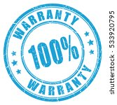 warranty rubber vector stamp on ... | Shutterstock .eps vector #533920795