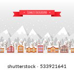 greeting card template. winter... | Shutterstock .eps vector #533921641