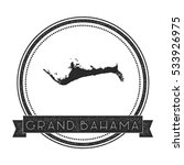 Grand Bahama Vector Map Stamp....